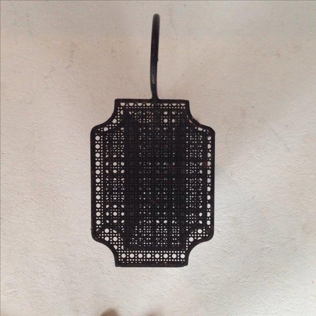 Perforated Black Metal Magazine Rack Side Table - Image 6 of 7
