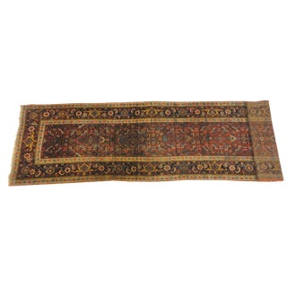 "Antique Persian Bijar Runner Rug - 14'1"" x 3'1"""