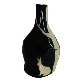 Black Ceramic Rabbit Vase