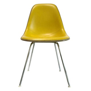 Eames Fiberglass Naugahyde Side Chair Yellow