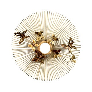 C. Jere Wall Sculpture Butterflies on Sunburst