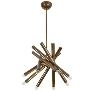 Brass Chandelier by Stilnovo
