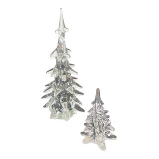 Crystal Holiday Trees - A Pair
