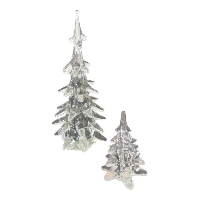 Crystal Holiday Trees - A Pair - Image 1 of 3