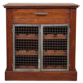 Wine Cabinet with Metal Doors