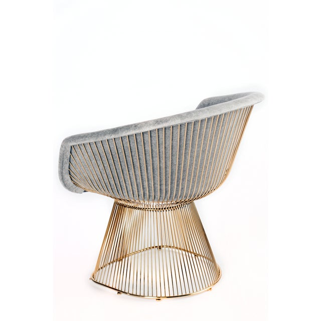 Platner Inspired Gold Lounge Chair - a Pair - Image 2 of 3