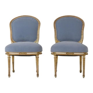 Mid 19th Century Louis XVI-style Side Chairs - a Pair