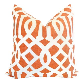 "20"" x 20"" Mandarin Imperial Trellis Pillow Cover"