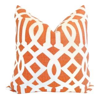Mandarin Imperial Trellis Pillow Cover