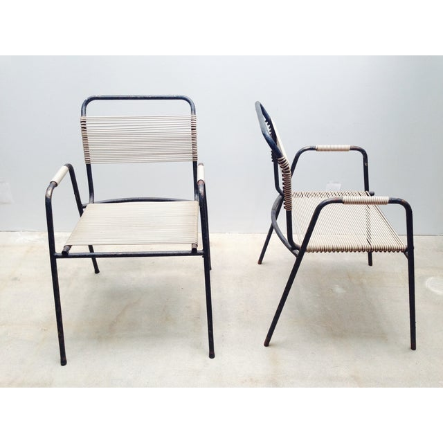 Rare Exterior Corded Ames Aire Arm Chairs - A Pair - Image 4 of 7