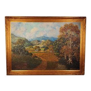 C.1925 Howard Arden Edwards Eagle Rock Canyon California Plein Air Oil Painting