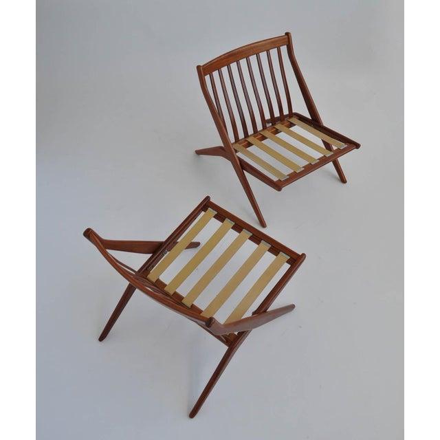 Folk Ohlsson Scandinavian Scissor Lounge Chairs - Image 10 of 10