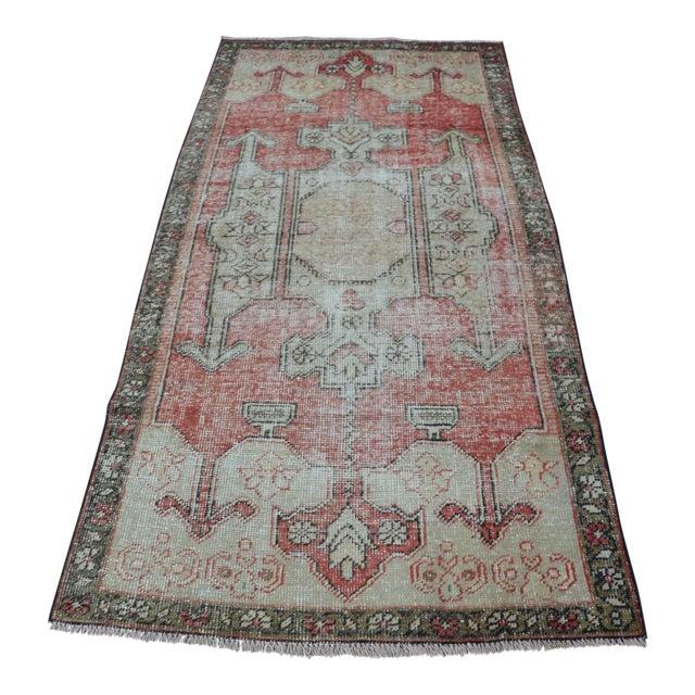 Bohemian Floor Wool Rug - 3′6″ × 7′4″ - Image 1 of 6