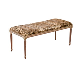 Cheetah Print Bench