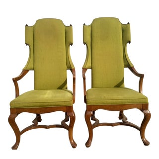 Vintage Jim Peed for Drexel Wingback Chairs - a Pair