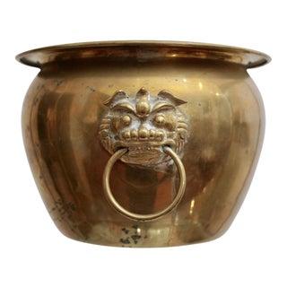 Brass Chinoiserie Dragon Ring Planter