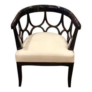 Worlds Away Navy Campbell Chair
