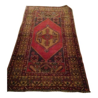 Vintage Turkish Rug - 3′5″ × 6′5″