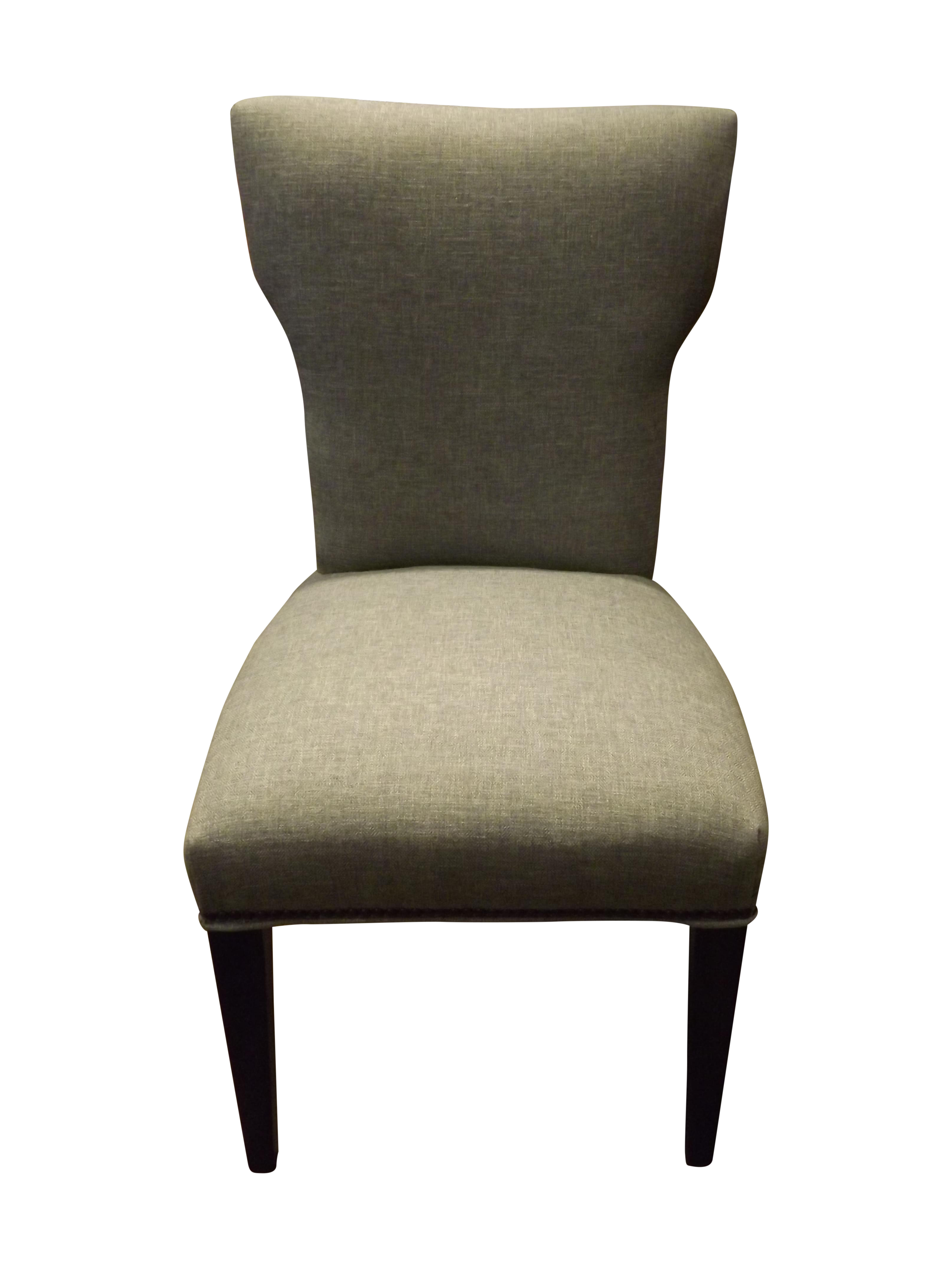 Sam Moore Gray Fabric Side Chair