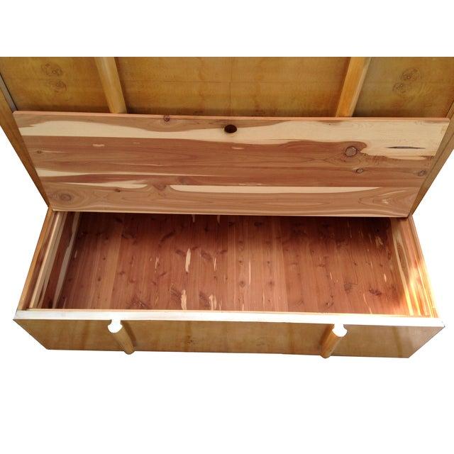 Image of Mid Century Modern Burlwood Highboy Dresser
