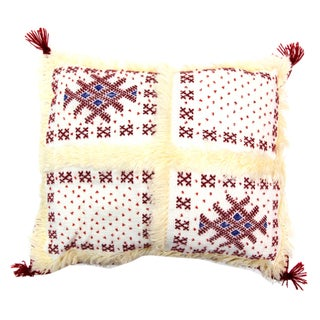 Red & White Moroccan Wedding Pillow