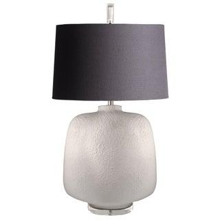 Large 1970s Ceramic & Lucite Lamp