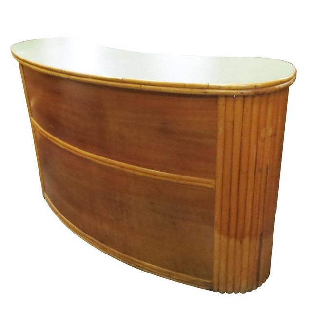 Image of Formica Top & Rattan Bar
