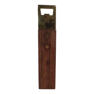 King Sized Italian Wood & Brass Bottle Opener