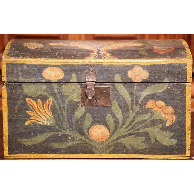 18th Century French Hand Painted Floral Wedding Box - Image 2 of 9