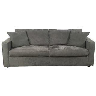 Room & Board Charcoal Suede Sofa