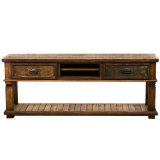 Handmade Reclaimed Solid Wood Console Table