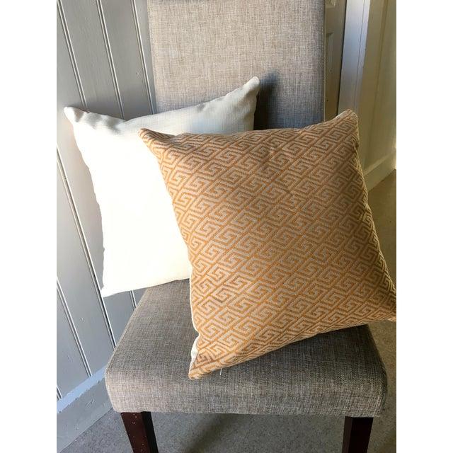 Image of Golden & Creme Greek Key Print Pillows - A Pair