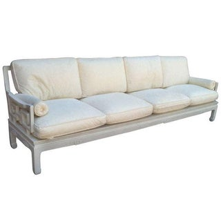 Mid Century Asian White Four Seat Sofa.2 Available