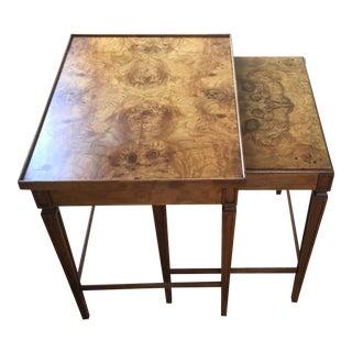 Baker Burlwood Nesting Tables- Set of 2