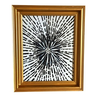 Black & White Abstract Painting