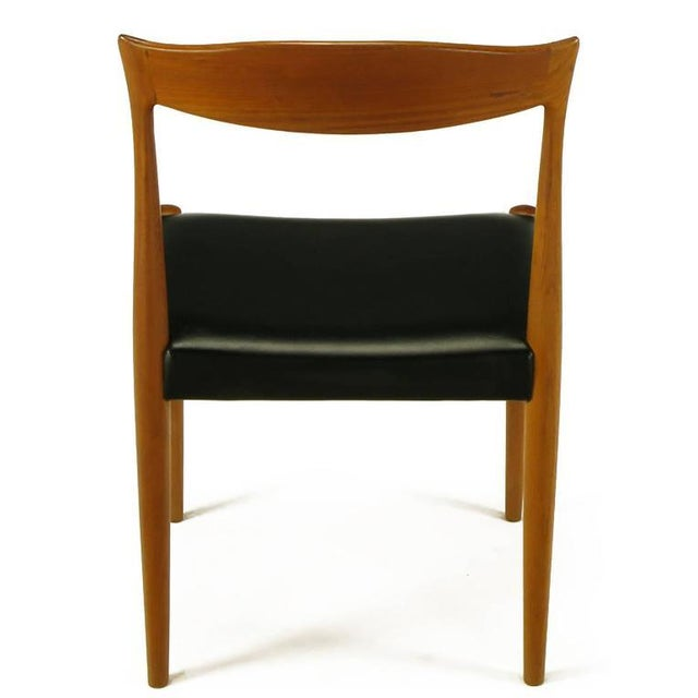 Image of Six Teak Sculptural Back Dining Chairs, circa 1960s