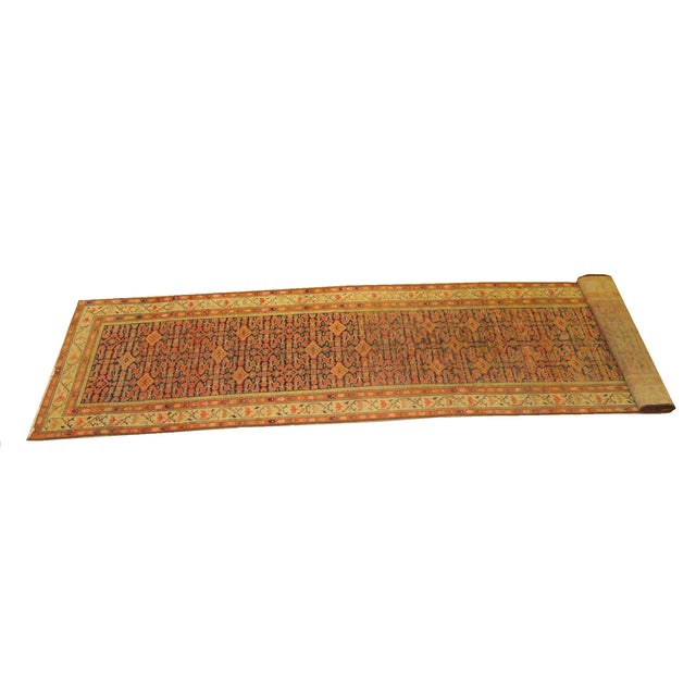 """Antique Persian Malayer Runner Rug - 3'3"""" x 15'4"""" - Image 1 of 4"""