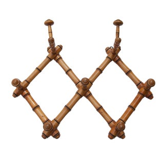 Antique French Bamboo Coat/Hat Rack