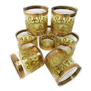 Culver 22k Gold Glasses - Set of 7
