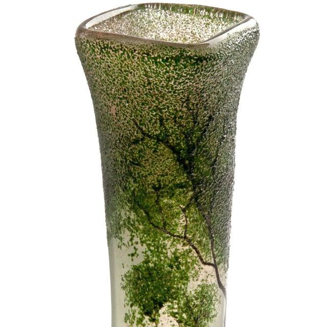 Antique Legras Art Nouveau Hand Painted Glass Vase - Image 5 of 7