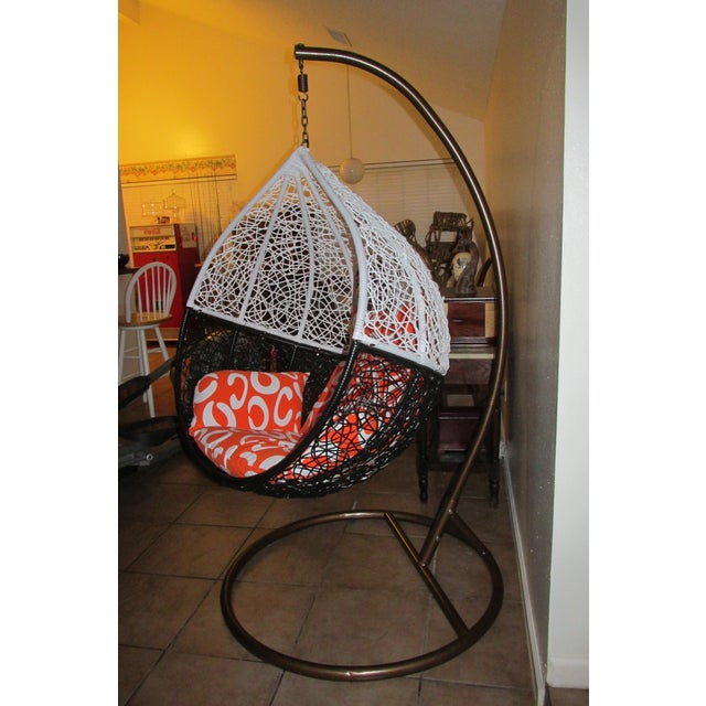 Mid Century Hanging Swing Egg Chair Chairish