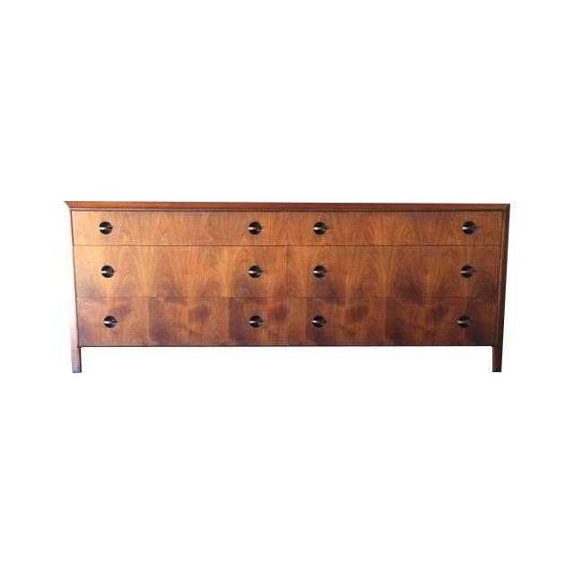 Image of Mid-Century Beautiful Grain Walnut Dresser