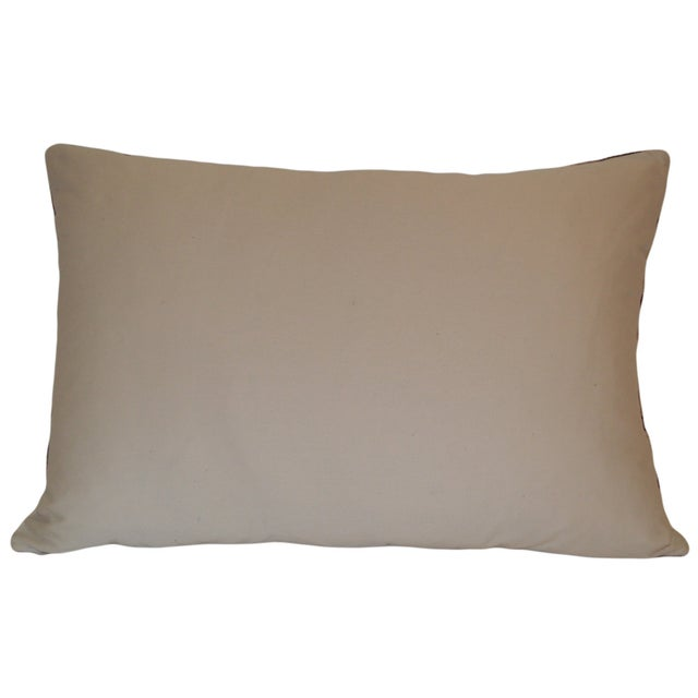 Blue & Beige Allary Silk Velvet Ikat Pillow - Image 2 of 2