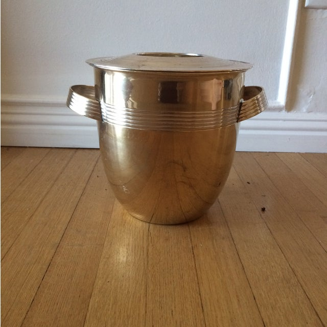 Vintage Art Deco Brass Lidded Ice Bucket - Image 3 of 10