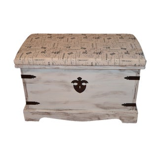 Shabby Chic Style Paris Bench/Trunk