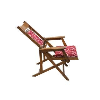 Reclining Silk Velvet Upholstered Chair
