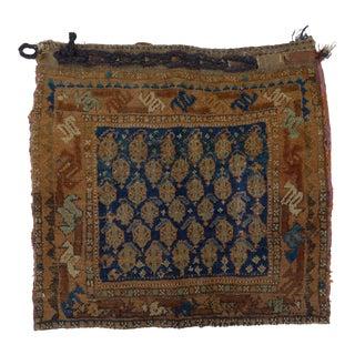 Antique Kurdish Bag Rug- 2′1″ × 2′2″