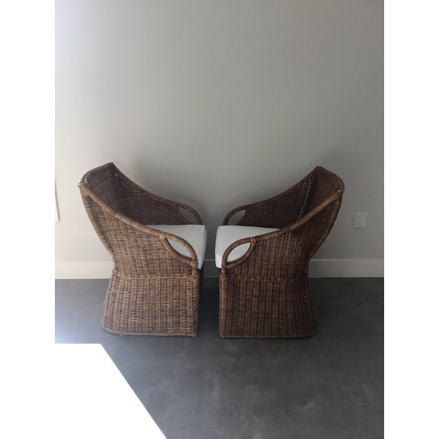 Williams-Sonoma Farallon Chairs - A Pair - Image 2 of 7