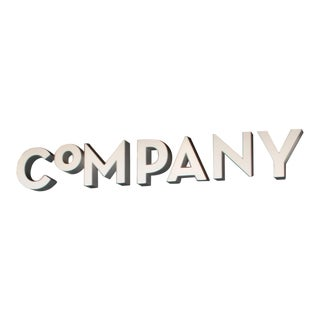 """CoMPANY"" 3-Dimensional Letters - Set of 7"