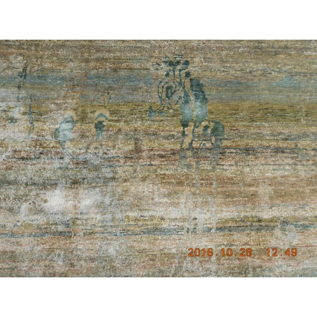 """Abstract Hand-Knotted Rug - 8′ × 9′11"""" - Image 9 of 10"""